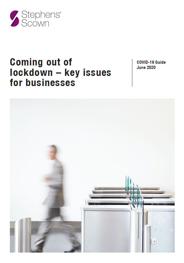 Business Guide: Coming out of lockdown - key issues for businesses